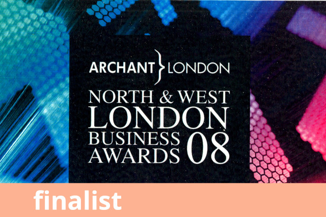 Archant North & West London Business Awards, Finalist 2008