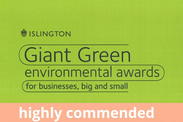 #NEW islington-council-giant-green-environmental-awards-green-champion-highly-commended