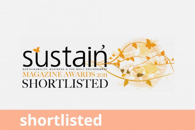 Sustain Magazine Awards, Shortlisted 2011
