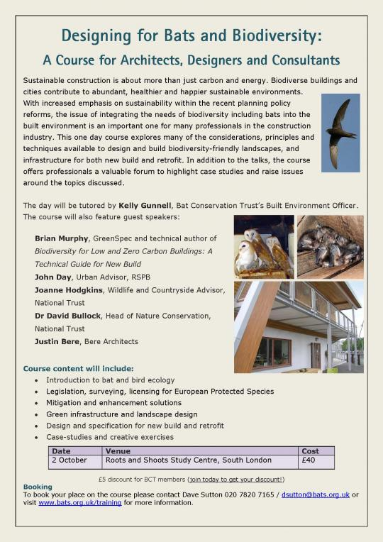 Biodiversity for Low and Zero Carbon Buildings: A Technical Guide for New Build